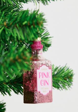 Fles roze gin