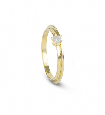 Gouden ring van 18 karaat met diamant