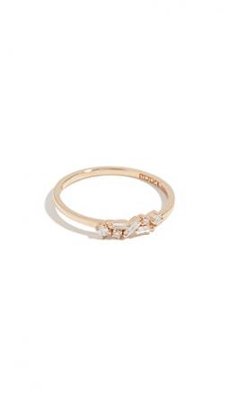 Gouden ring van 18 karaat met diamanten
