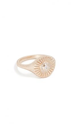 Gouden ring van 14 karaat met diamanten