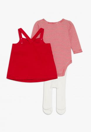 Set met kousenbroek, romper en jurk