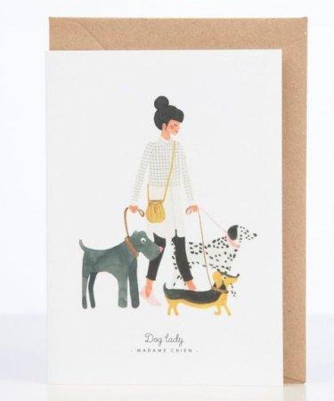 'Dog lady'-kaartje