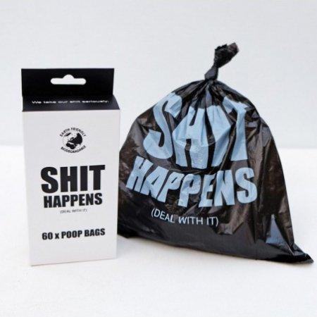 'Shit happens'-hondenpoepzakjes