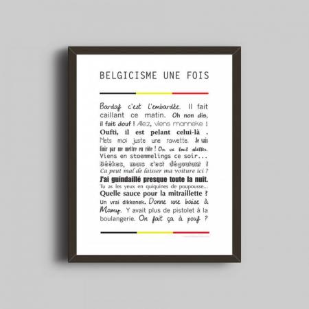 Cadre Belgicismes une fois by <em>Belge une fois</em>
