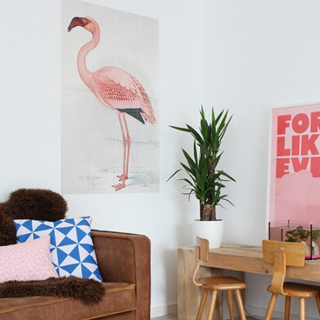 Muurdecoratie 'Greater flamingo'
