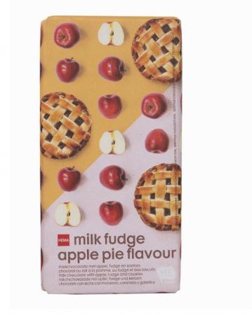 Chocoladereep met appel-toffee-smaak