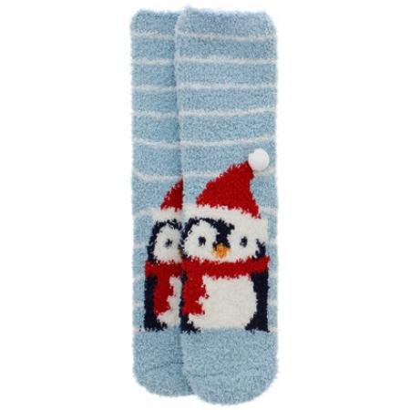 Chaussettes de Noël pingouin