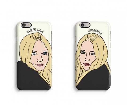 Une coque smartphone Kate & Ashely parce qu'elle est votre soeur
