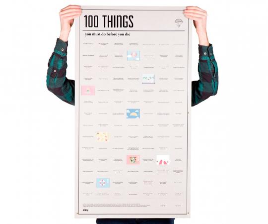 Un poster de 100 choses à faire avant de mourir