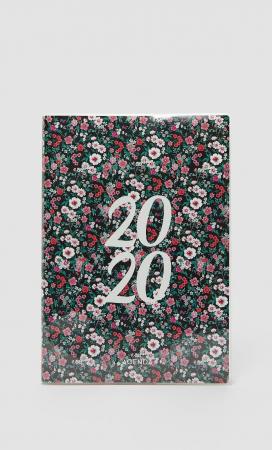 Met bloemenprint
