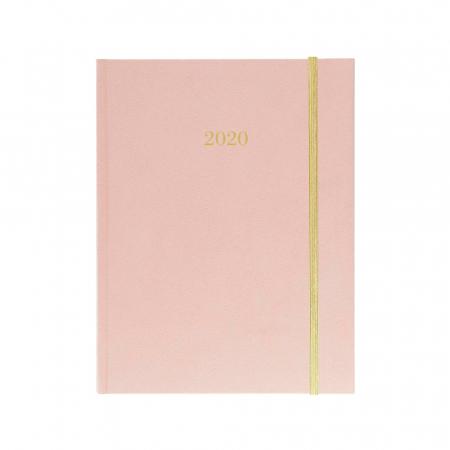 Roze met gouden lint