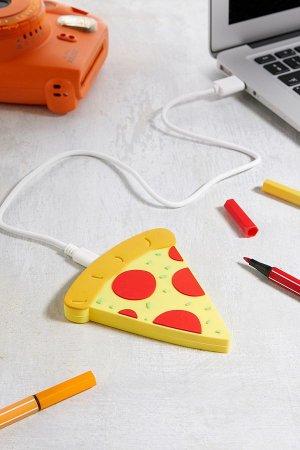 Draadloze oplader in de vorm van een pizzapunt
