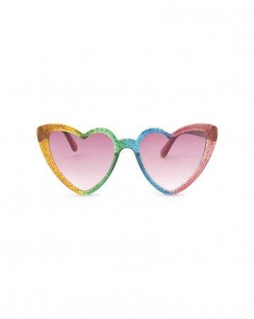 Hartvormige zonnebril in regenboogkleuren