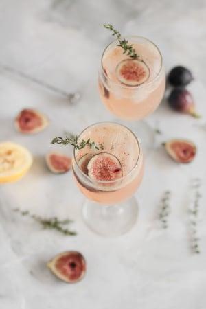 Mocktail met vijgen