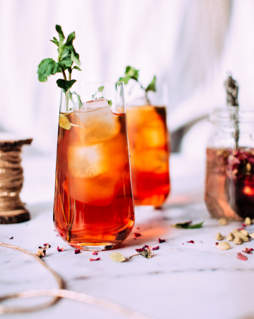 Ginger beer en hibiscus mocktail