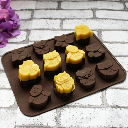 Chocoladevormpjes uiltjes
