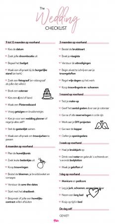 Download onze Wedding Checklist