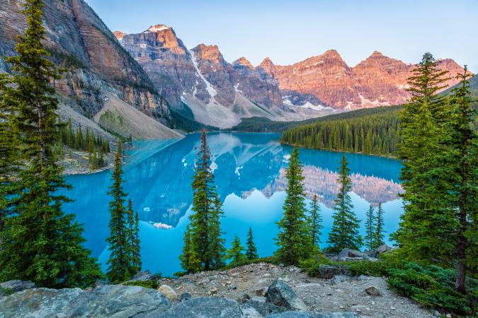 Le Lac Moraine, Canada