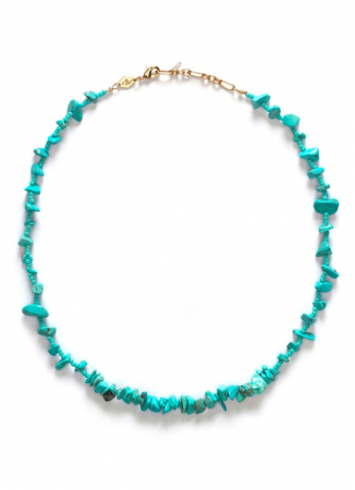 Halsketting met turquoise edelstenen