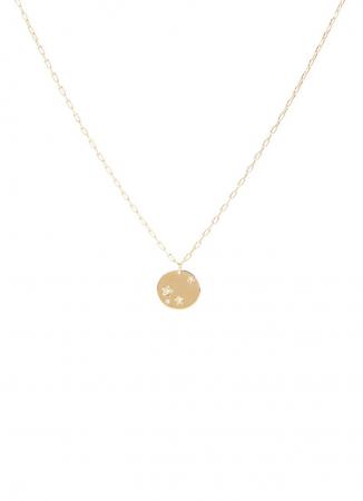 Goudkleurige halsketting met sterren uit zirkonia