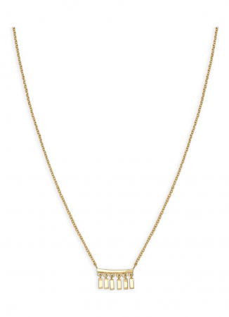 Goudkleurige halsketting met hanger