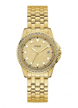 Goudkleurig horloge met faux diamanten
