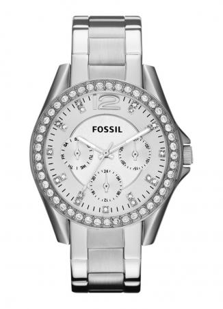 Horloge uit zilverkleurig staal