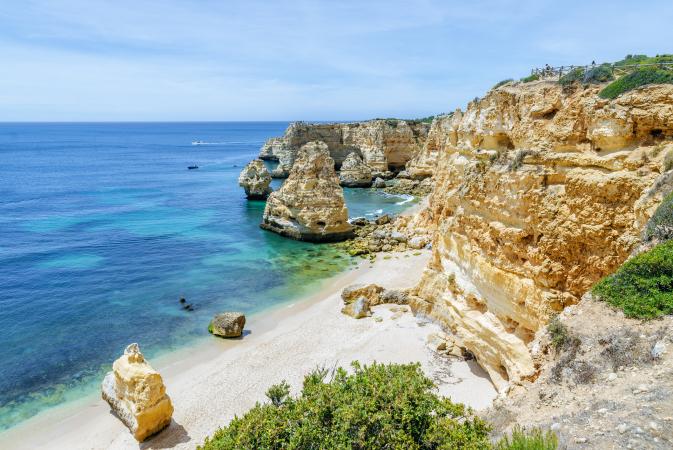 La Praia da Marinha, Portugal
