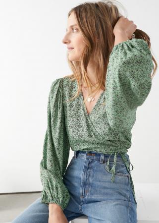 Blouse in trendkleur groen