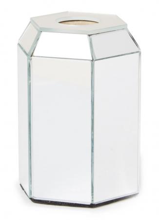 Kandelaar met spiegelglas