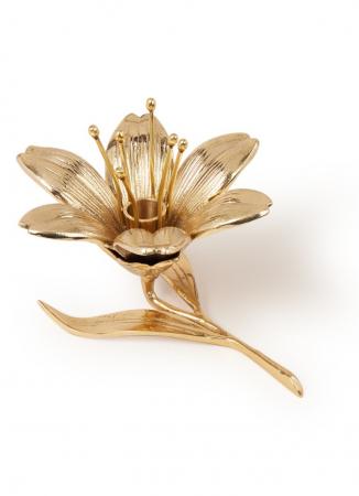 Goudkleurige lelievormige kandelaar