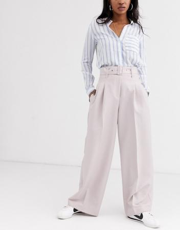 Klassieke pantalon met wijde pijpen