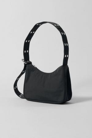Zwarte handtas in stof