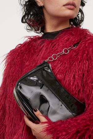 Zwarte tas in lakleer
