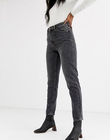Zwarte mom jeans