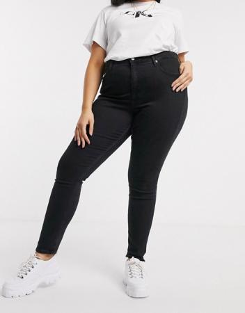Zwarte skinny jeans met hoge taille