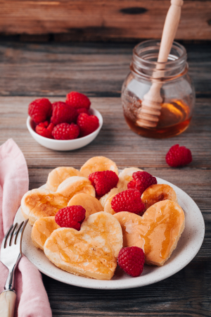 Hartvormige pannenkoeken