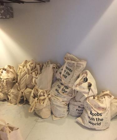 Grappige goodiebags op het event van onze collega's van de Waalse Flair.