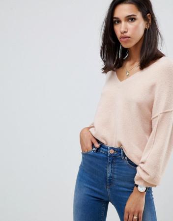 Sweater met v-hals