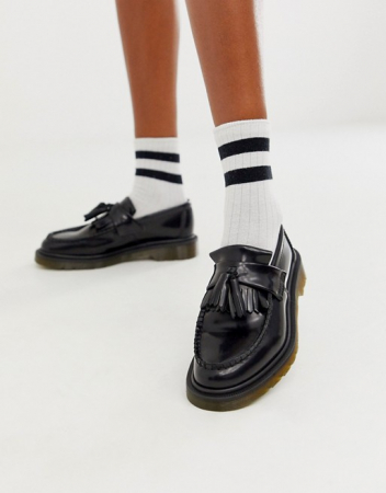 Zwarte loafers met tassel