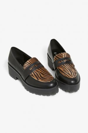 Chunky loafers met platformzool