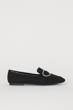 Loafers uit tweed