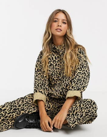 Jumpsuit in luipaardprint
