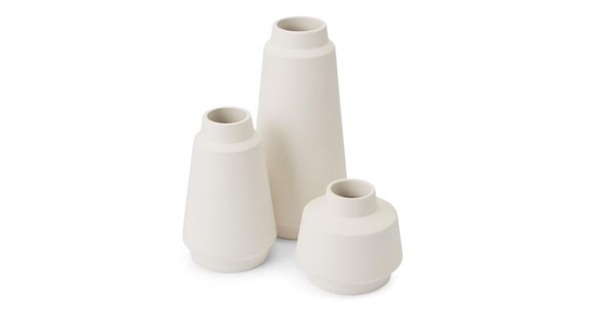 Lot de trois mini vases