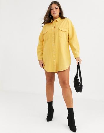Hemdjurk in trendkleur geel