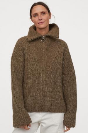 Grofgebreide wollen trui