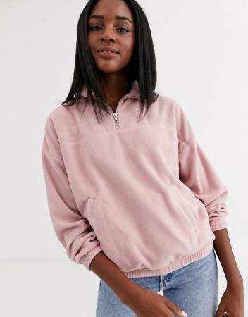 Roze trui met zakken