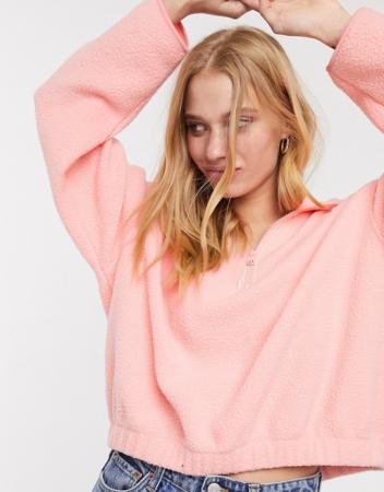 Korte sweater in een fluokleurtje