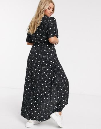 Lange jurk met polkadots