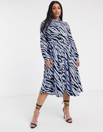 Hemdjurk met zebraprint